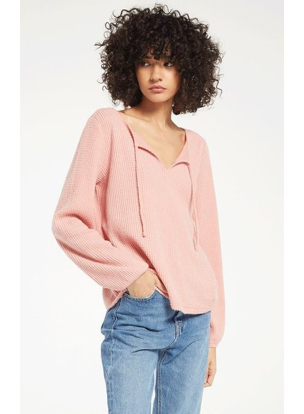 Z Supply Z Supply Larissa Thermal Top Pink