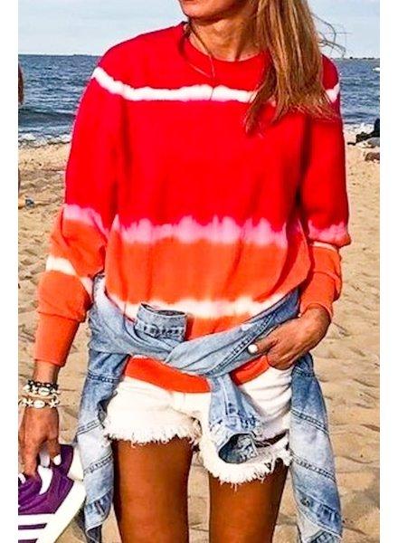 Mazik Mazik Red/Orange Tie Dye Light Sweatshirt