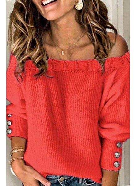 Mazik Mazik Button Red Sweater M
