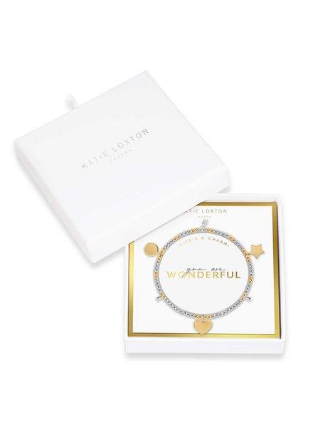 Katie Loxton Katie Charm Bracelet You are Wonderful