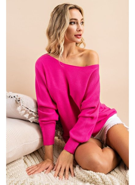 EEsome Eesome Ribbed Off Shoulder Sweater