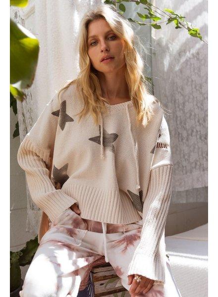 POL POL Star Sweater Vanilla Hoodie