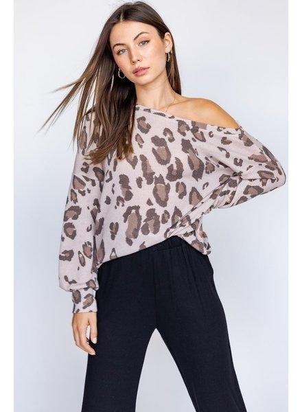 Le Lis Le  Lis Leopard Taupe Top