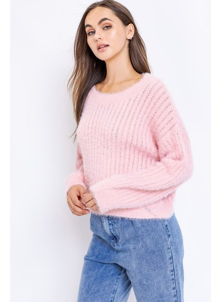 Le Lis Le Lis Fuzzy Pink Sweater