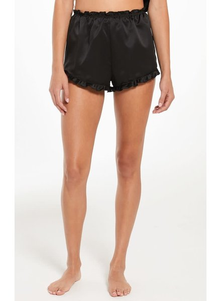 Z Supply Z Supply Black Satin Short