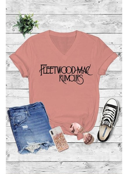 Caramela Caramelo Graphic Tee Fleetwood MAC Rose