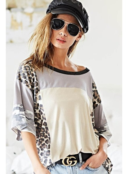 BIBI Bibi Leopard Print Top
