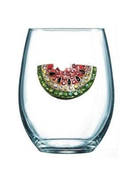 Cork Pops Cork Pops Stemless Glass Watermelon