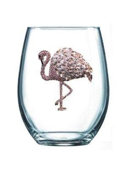 Cork Pops Cork Pops Stemless Glass Flamingo