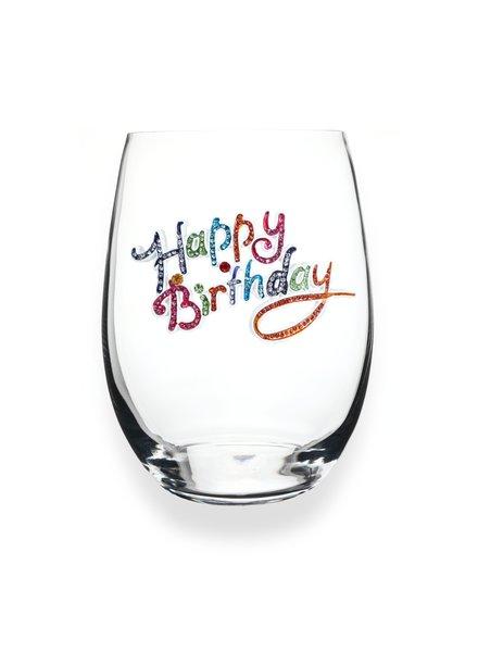 Cork Pops Cork Pops Stemless Glass Happy Birthday