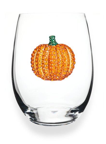 Cork Pops Cork Pops Stemless Glass Pumpkin