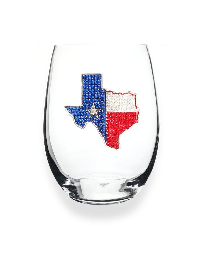 Cork Pops Cork Pops Stemless Glass Texas Flag