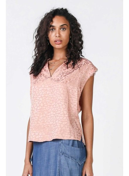 Current Air Current Air Leopard Soft Print Top