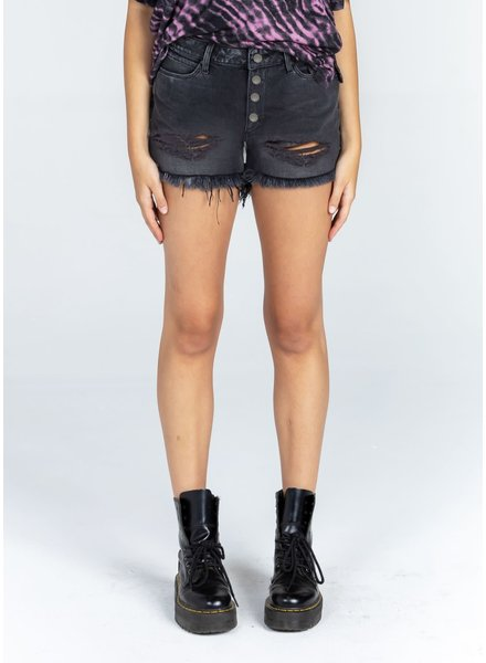Articles of Society AOS Claire Shorts Distressed Black