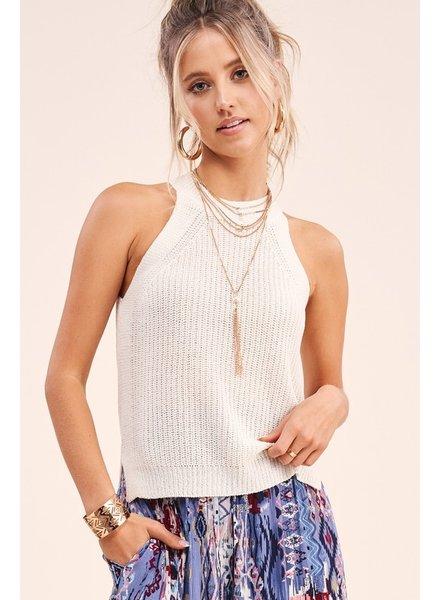 La Miel La Miel Sleeveless Summer Sweater