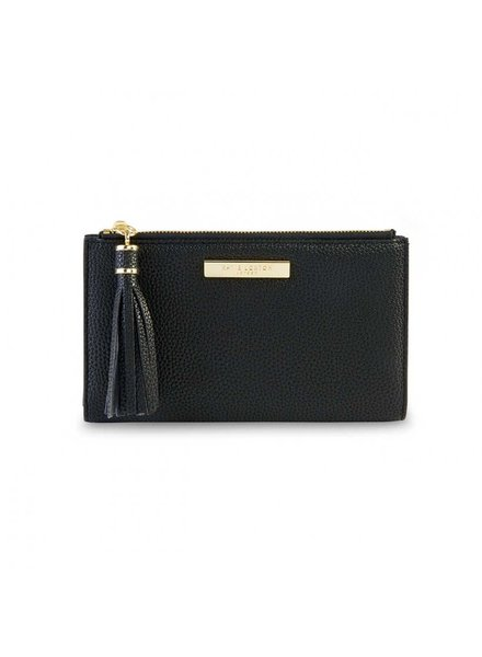 Katie Loxton Katie Fold Out Wallet Black Tassel