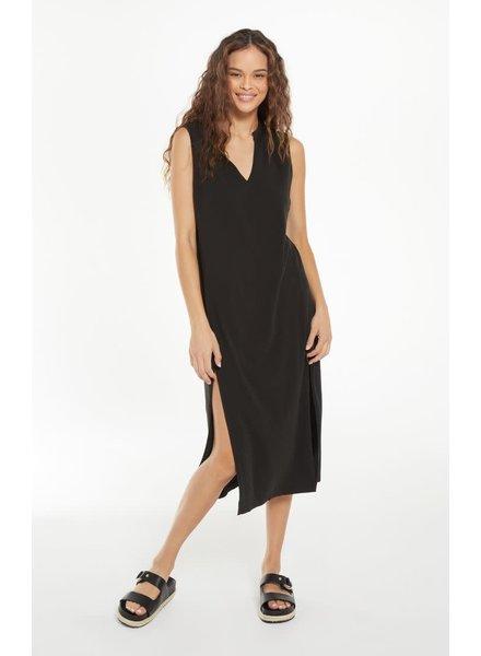 Z Supply Z Supply  Tawny Notch Black Dress