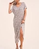 La Miel La Miel Leopard Maxi Dress