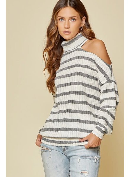Andree Andree Striped One Shoulder Top