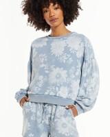 Z Supply Z Supply Claire Floral Sweatshirt Blue
