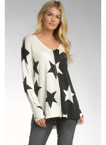 ELAN Elan Oversized Star Sweater