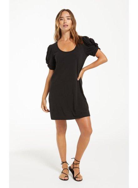 Z Supply Z Supply Puff Sleeve Black Dress