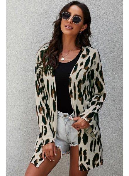 MISC Leopard Cardigan  Taupe