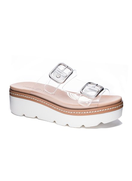 Chinese Laundry Chinese Laundry Surfs Up Clear Sandal