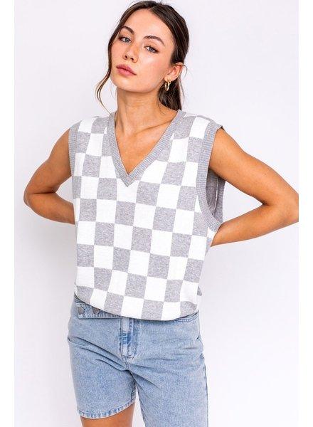 Le Lis Le Lis Grey Check Vest
