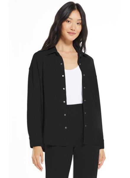 Z Supply Z Supply Modal Black Shirt Jacket