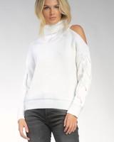 ELAN ELAN White Open Shoulder Sweater