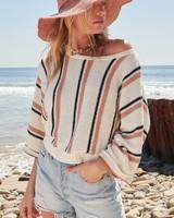Promesa Promesa Cream Striped Sweater