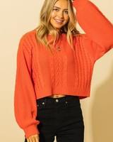 HYFVE HYFVE Balloon Sleeve Crop Sweater