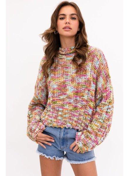 Le Lis Le Lis Fuchsia Multi Sweater