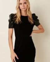 Mittoshop Mitto Black Dress with Puff Sleeves