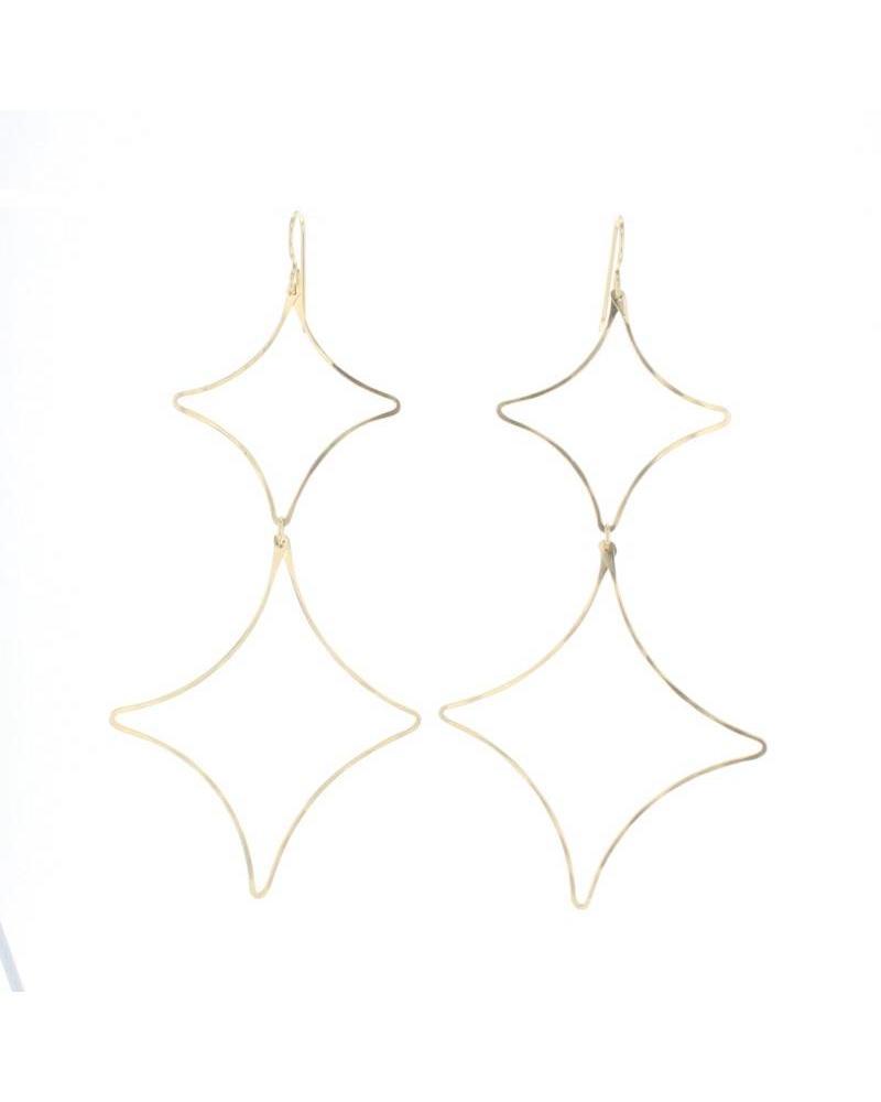 Lotus Lotus Etoile Gold Earring