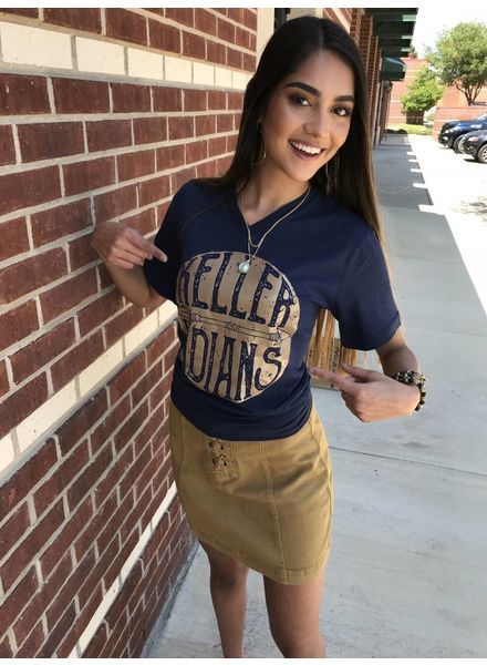 MISC Gameday Navy TShirt Keller Indians