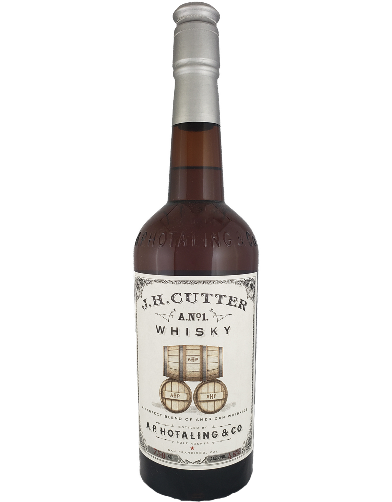 J.H. Cutter A. No. 1 American Blended Whisky, San Francisco
