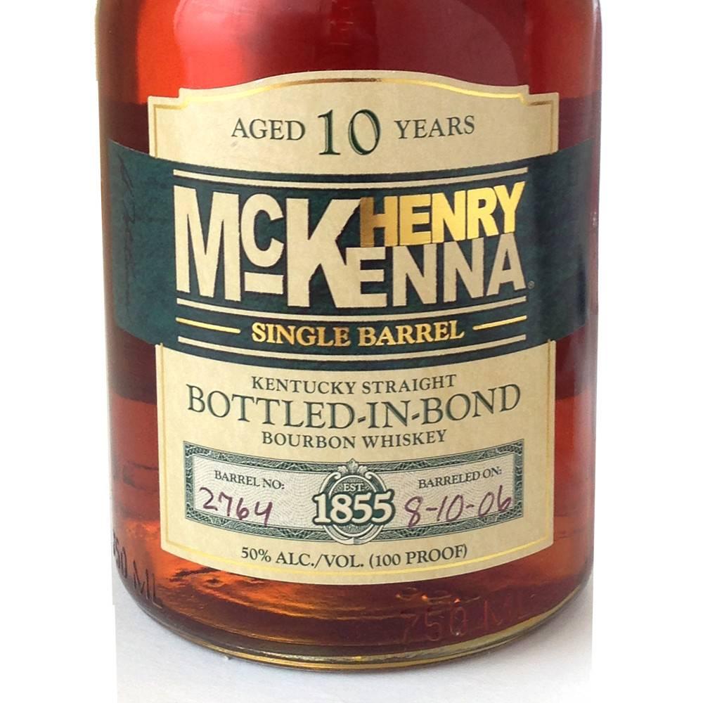 Henry Mckena Single Barrel 10 year Bourbon