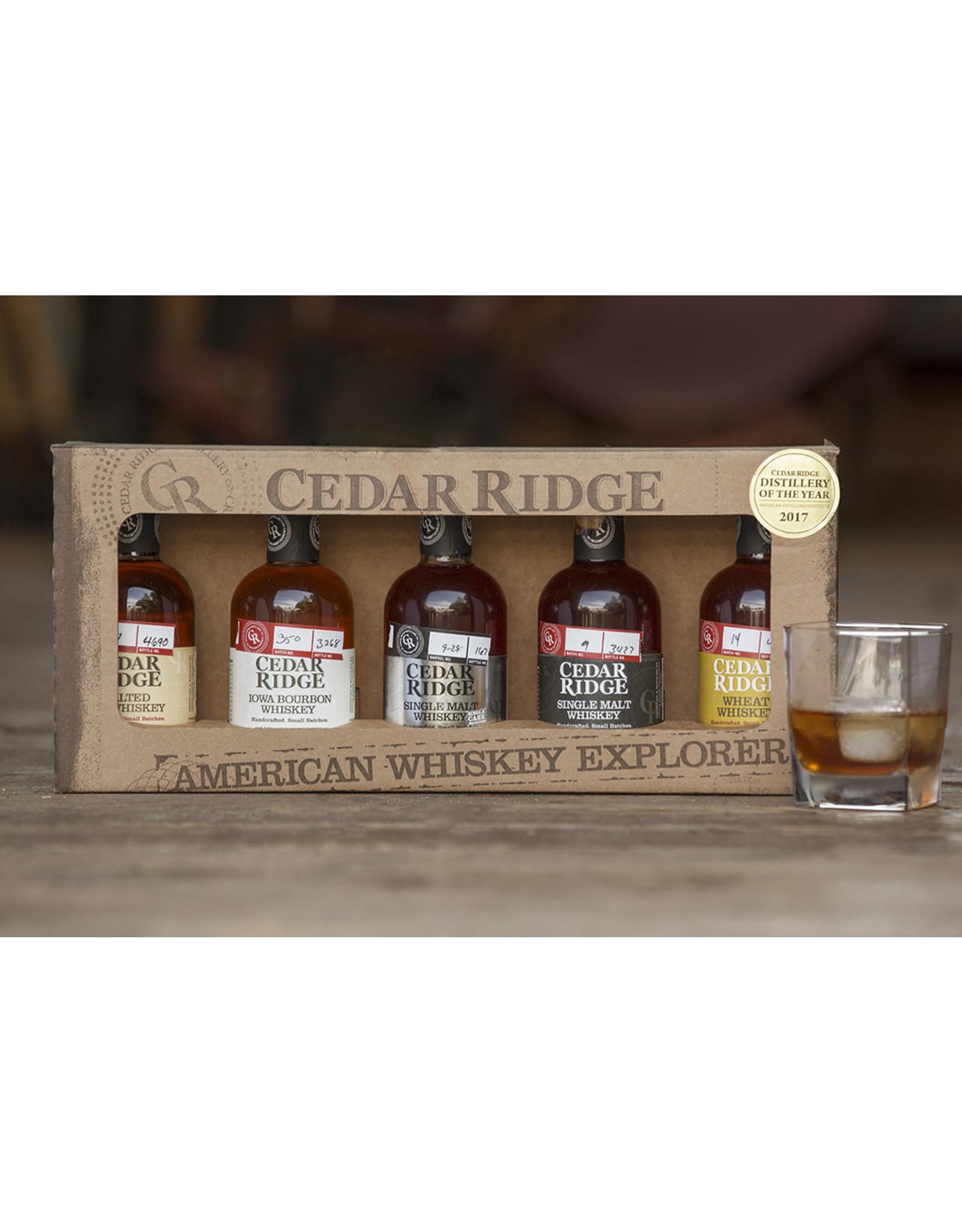 Live Zoom Tasting and Cedar Ridge American Whiskey Explorer Tasting Set