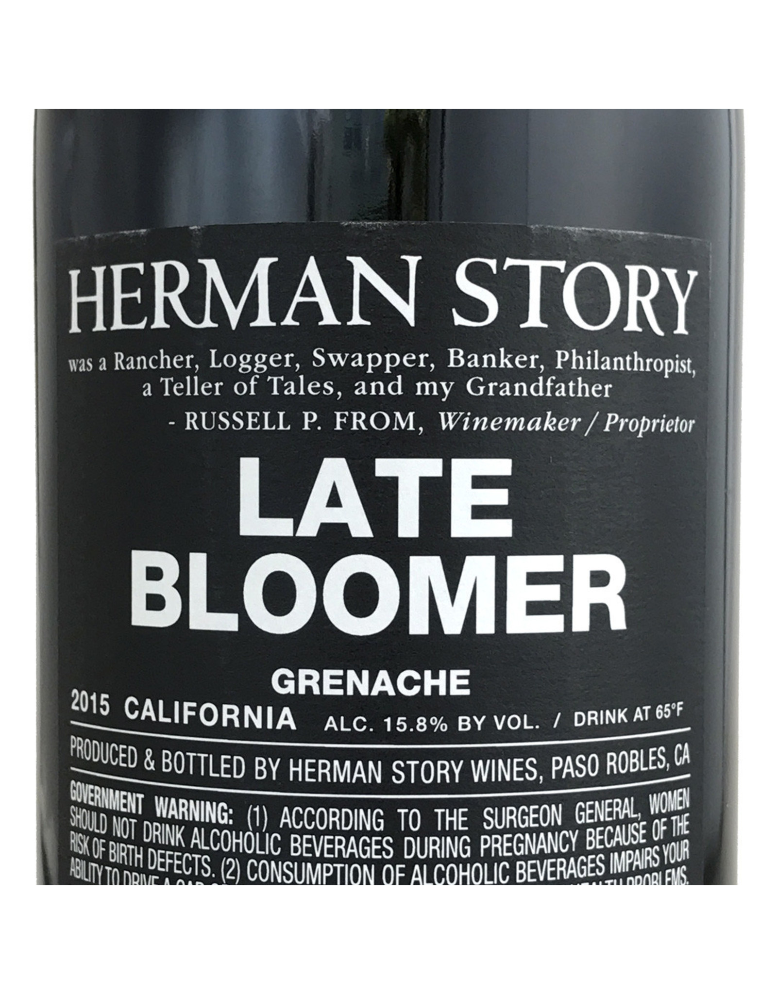 Herman Story Wines Herman Story, Late Bloomer, Grenache 2015