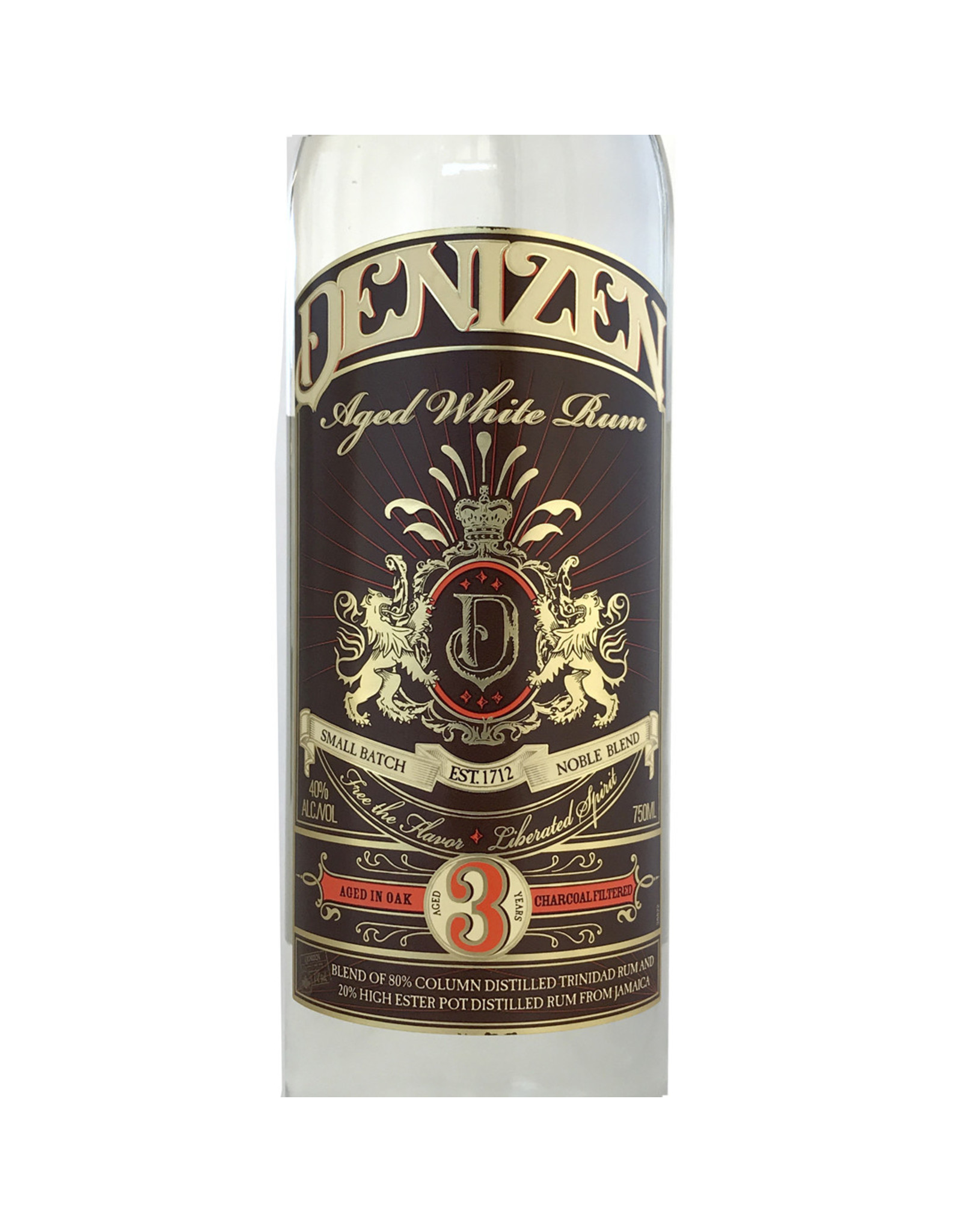 Denizen Aged White Rum 3 Year