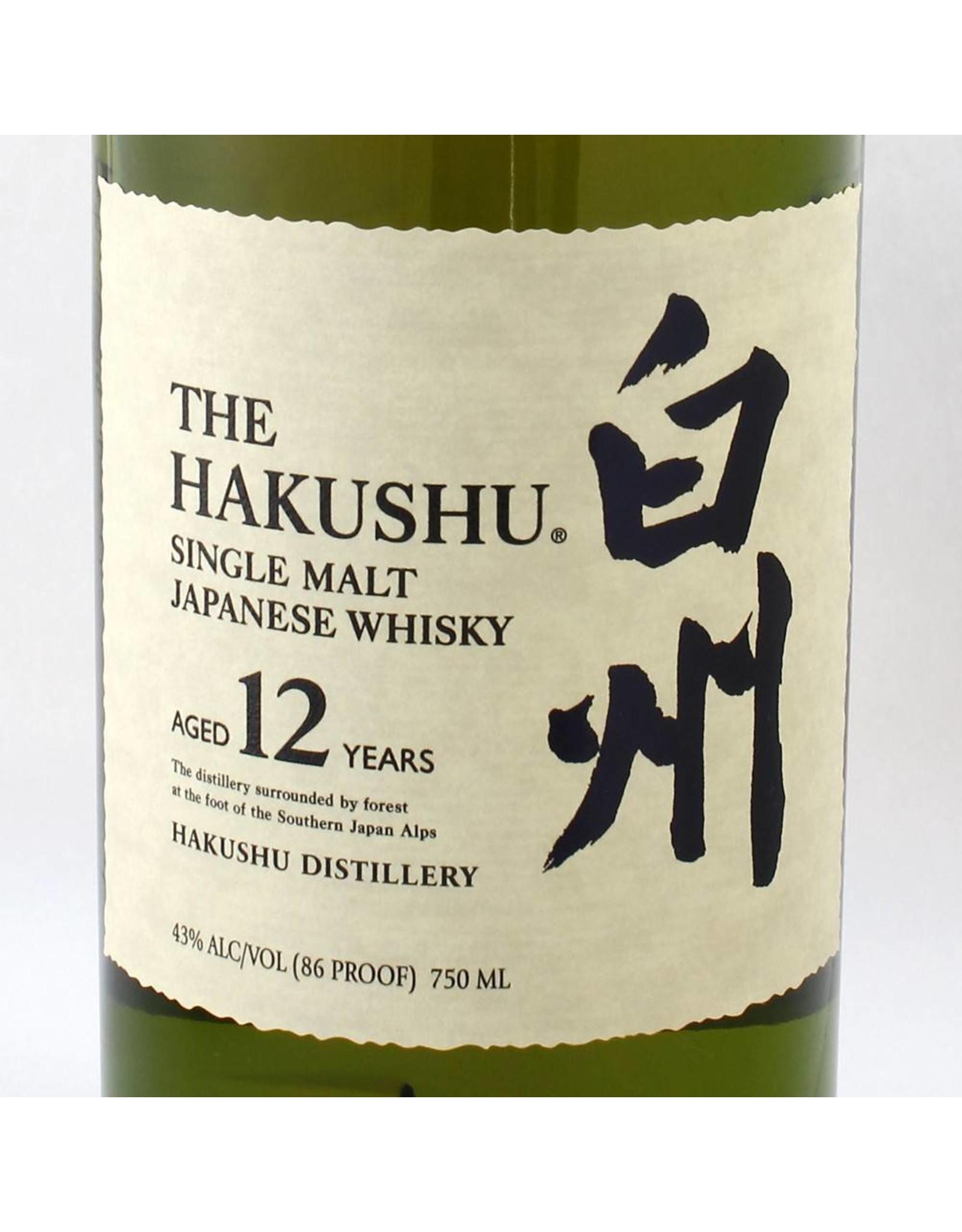 Suntory The Hakushu Single Malt Japanese Whisky 12 year