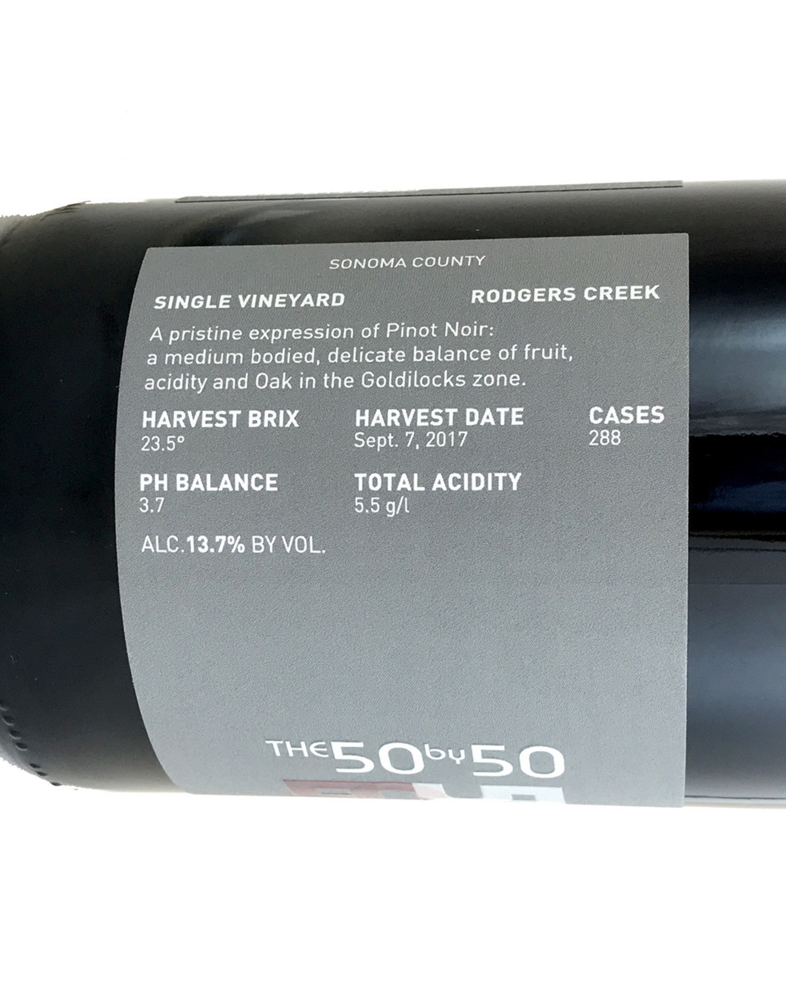 50 by 50 / Devo The 50 by 50 Pinot Noir Rodgers Creek Sonoma Coast 2017