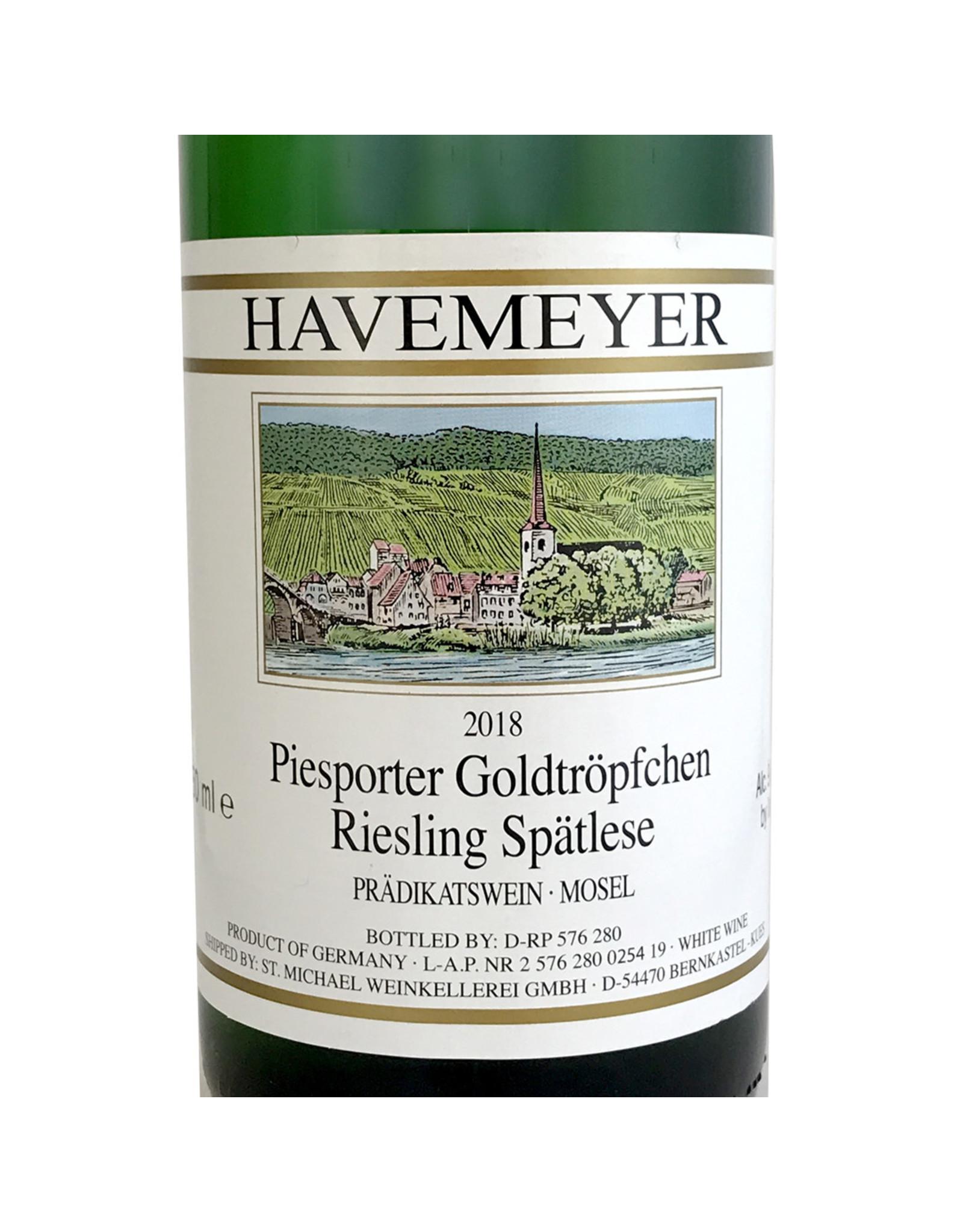 Havemeyer Piesporter Goldtröpfchen Riesling Spätlese 2018
