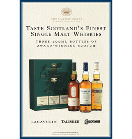 "PRIVATE EVENT -- Live Zoom Tasting:  The Classic Malts ""Strong"" Collection - Lagavulin 16, Talisker 10, Cragganmore 12 (200ml 3pk)"