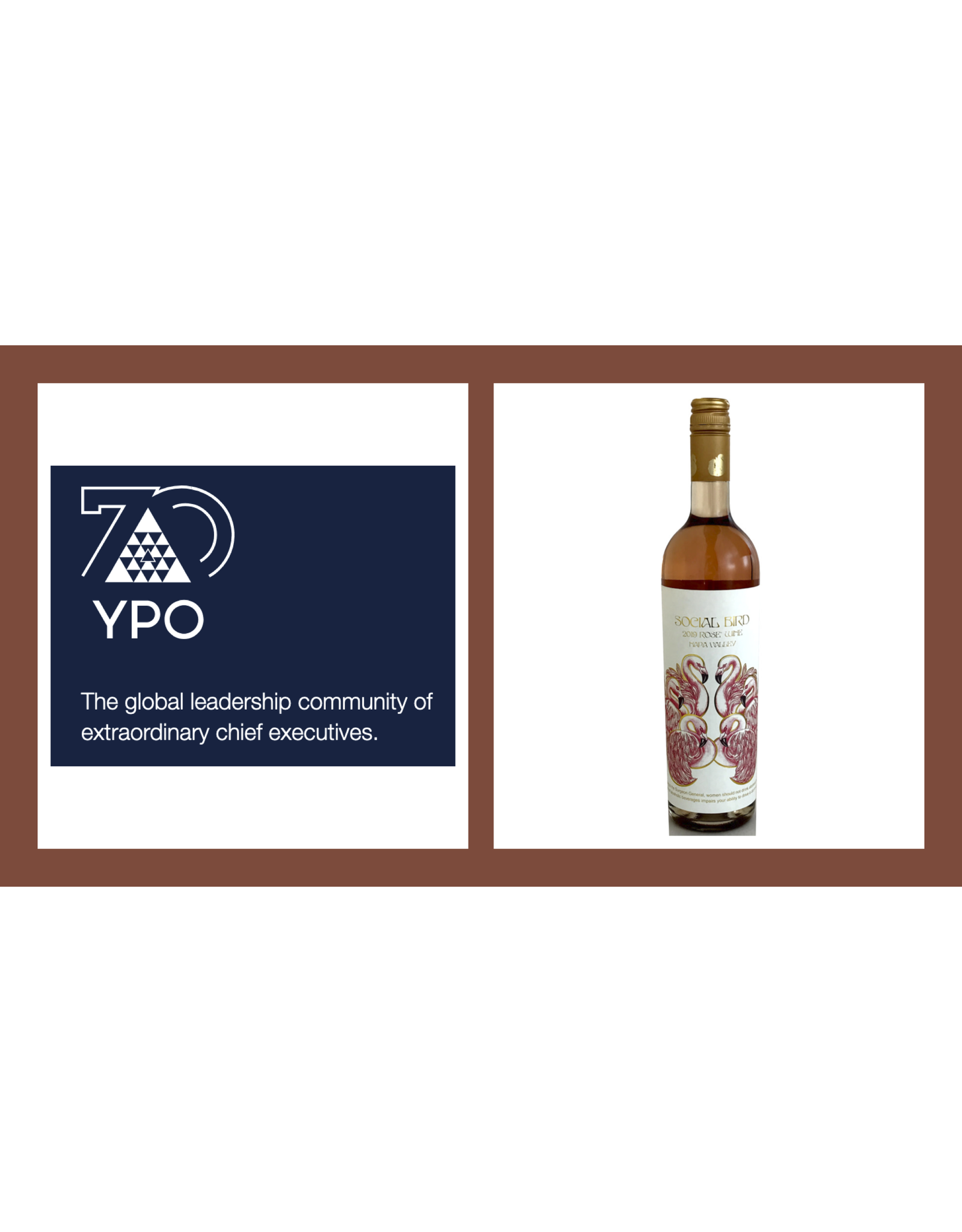 YPO Event - Case Special Pricing -  Social Bird, Rose, Oakville, Napa Valley 2019