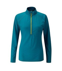 Rab Women's Interval Long Sleeve Zip Tee