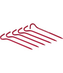 MSR Hook Stakes Kit Red