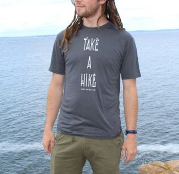 Mount Inspiration Take a Hike T-Shirt- Blue- XL
